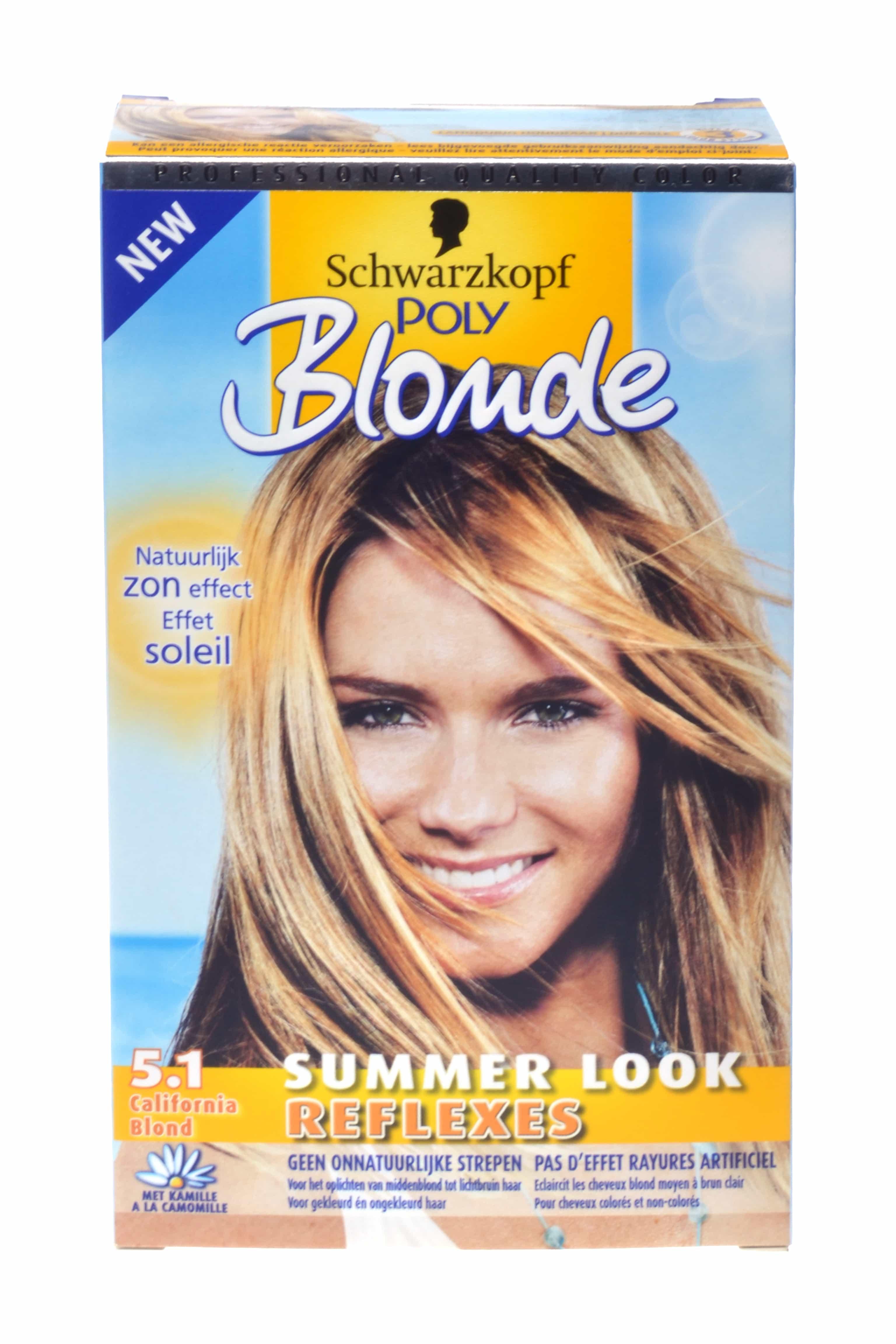 Haarverf 5.1, california blond summer look reflexes