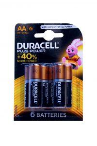 Plus Power Batterijen AA, 6 Stuks