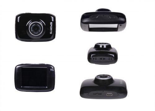 Actie camera hd 720p inc. (waterproof case,bevestigingscherm,autolader,zuignap,fietsmontage & helmmontage)