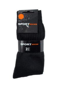 Sport Sok Zwart 2 paar