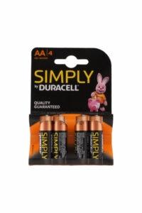 Batterijen Simply AA, 4 Stuks