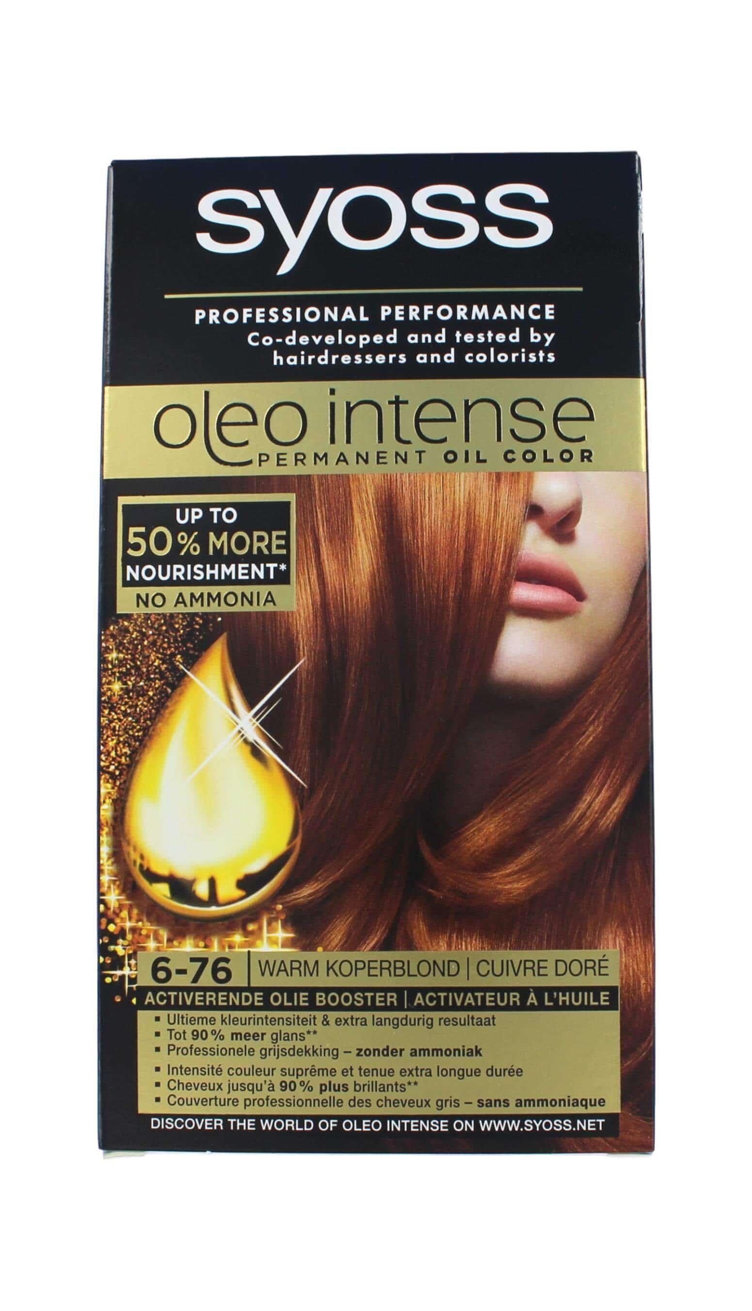 Syoss Oleo Intense Haarverf 6-76 Warm Koperblond