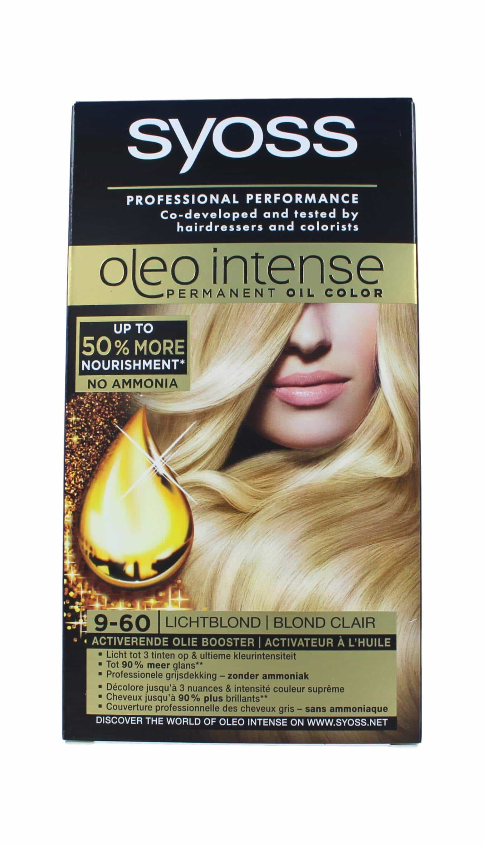 Syoss Oleo Intense Haarverf 9-60 Lichtblond