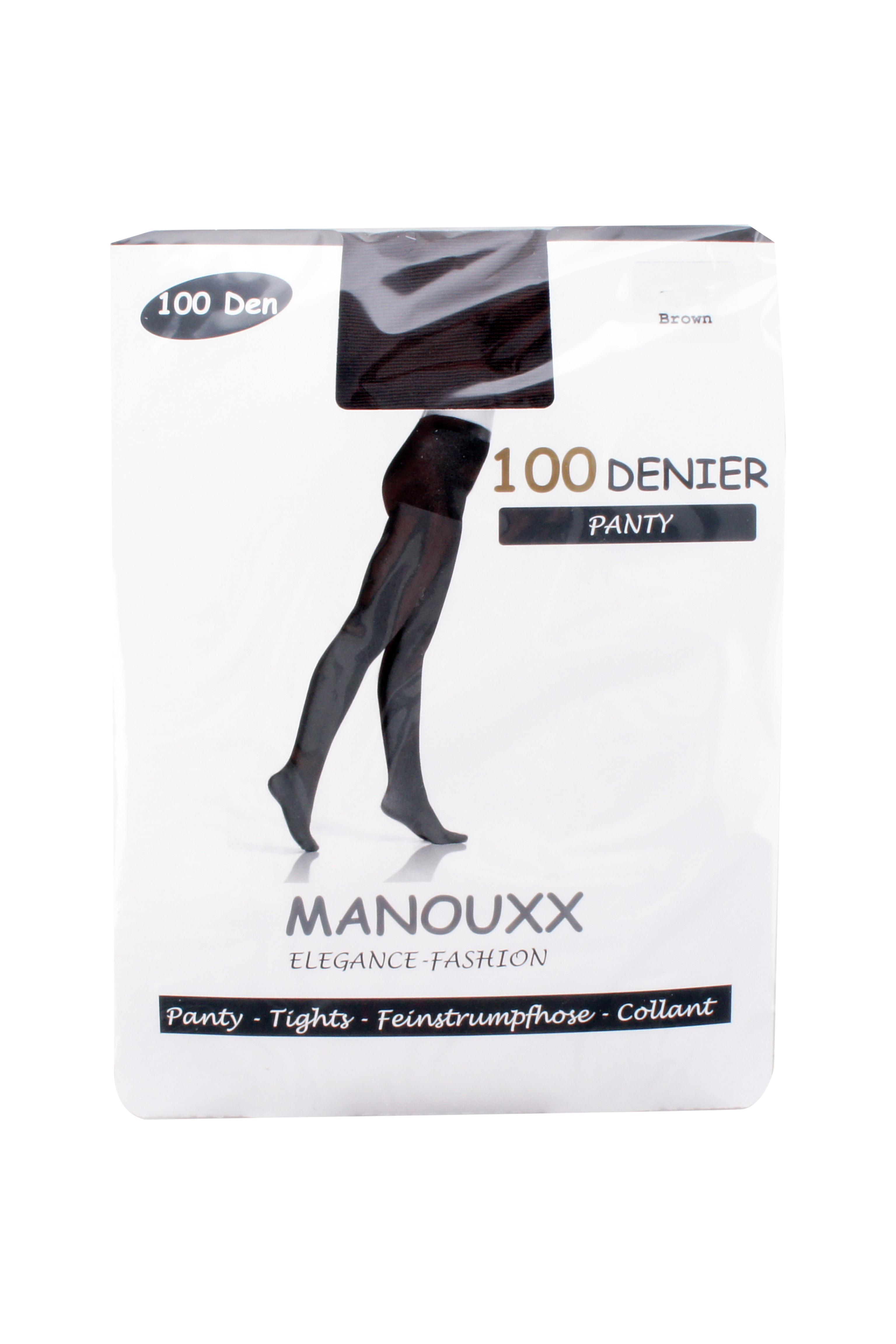 Manouxx Panty Elegance 100 Den Bruin