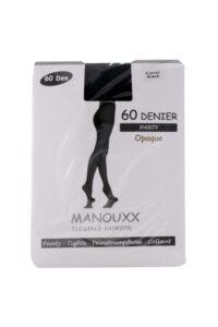Manouxx Panty Opaque 60 Den Bijna Zwart