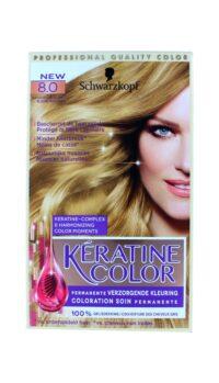 Keratine Color Haarverf 8.0 Natuurlijk Blond
