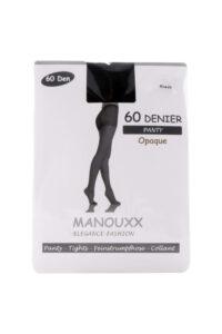 Manouxx Panty Opaque 60 Den Zwart