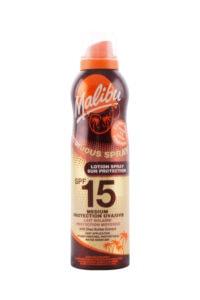 Malibu Zonnebrand Continue Spray Spf 15, 175 ml