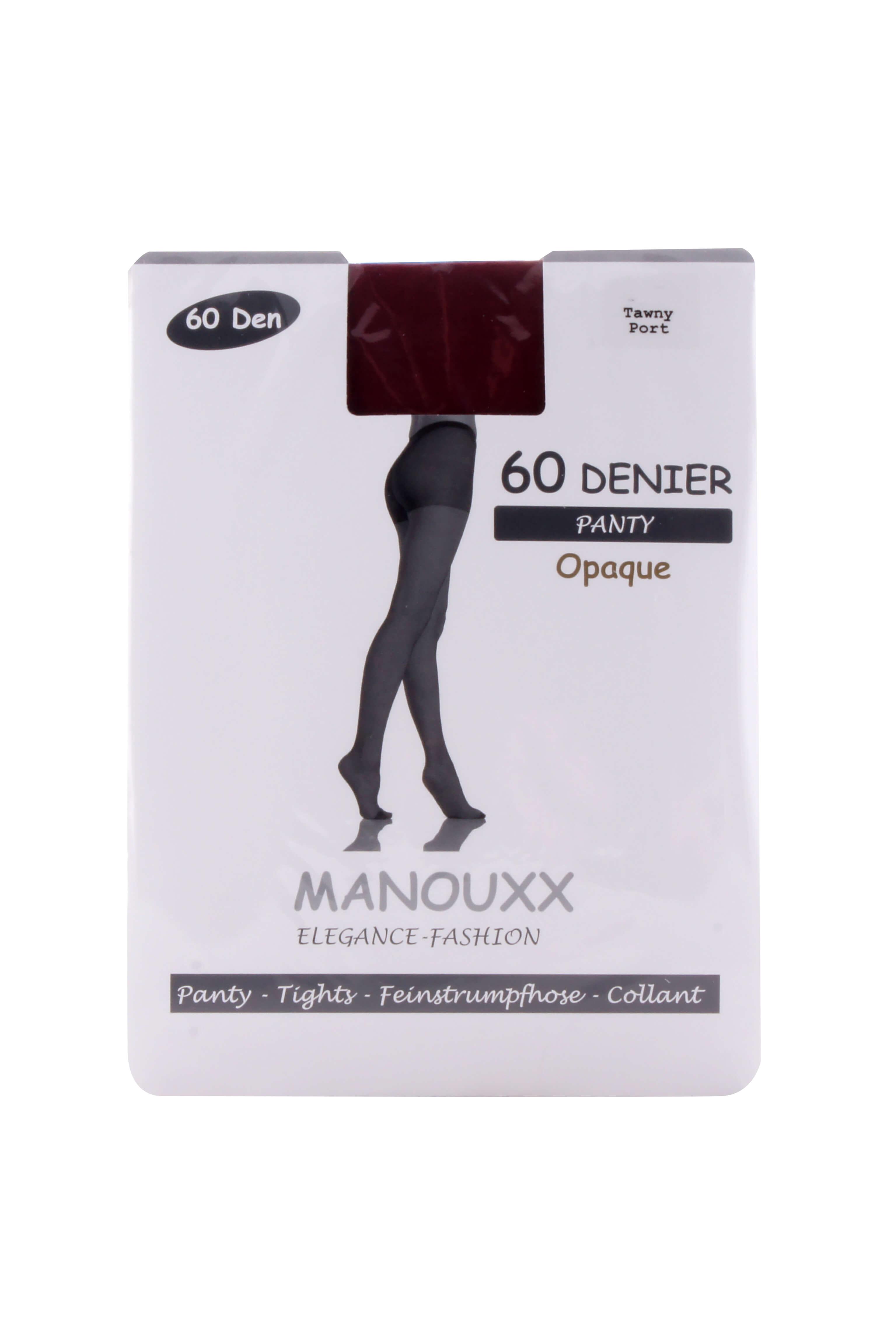 Manouxx Panty Opaque 60 Den Tawny Port