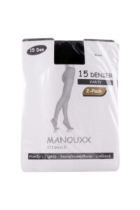 Manouxx Panty Dance 2-pack 15 Den Zwart