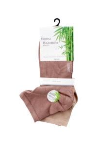 Boru Bamboo Sokken Biker Beige 2-pack