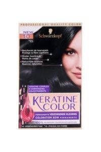 Keratine Color Haarverf 1.0 Zwart