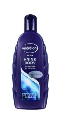 Andrelon Shampoo For Men Hair & Body Eucalyptus bestel je sn