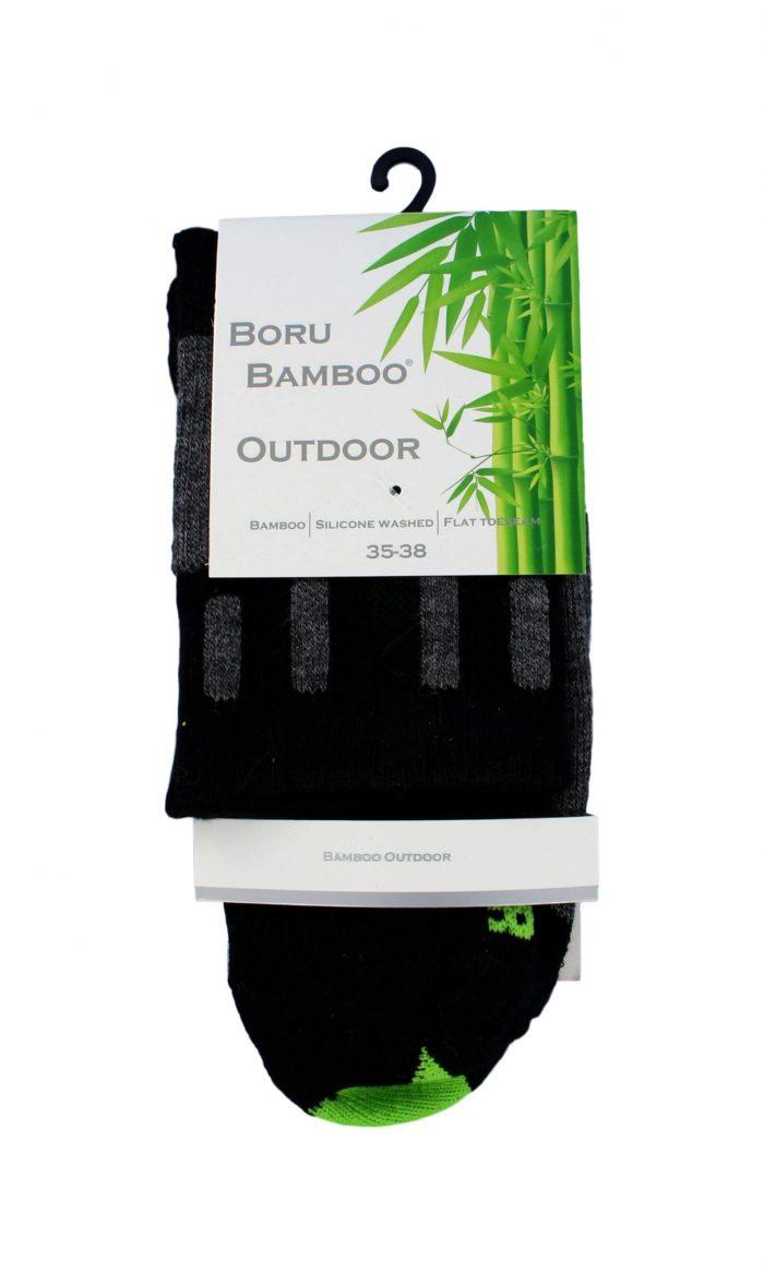Boru Bamboo Outdoor Sokken Zwart